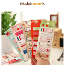 6 piece/lot Cute Mini Animal Romantic Country Memo Pad Sticky Kawaii Paper Sticker Post It Note for Kids Gifts Korean Stationery