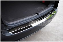 Polished Rear Trunk Bumper Protector Scuff Plate Door Sill Fit For Honda CR-V CRV 2012