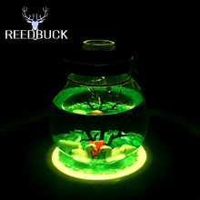 16 Colors Led DIY Lamp RGB Nightlight Swan Sea World Romantic Lights Wishing Bottle Great Gift For Child Friends With IR Control(China)