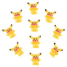 50pcs Pokemon Pikachu Flat back Resin Scrapbooking Hair Bow Center Crafts Embellishment Flatback Charms Cabachons(China)
