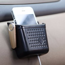 Newest Car Storage Automotive Black Bag Box For Mobile Phone Holder Car Styling High Quality Interior Stowing Tidying(China)