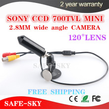 "Free shipping 1/3"" SONY SUPER CCD 700TVL Mini bullet Camera Security Small Mini CCTV Camera Video Surveillance 2.8mm WIDE ANGLE(China)"