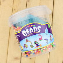 Water beadbond children's educational toys DIY Magic Beads puzzle Packed magical water beados bucket packed kits(China)