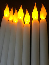 36pcs/lot Led battery operated flickering flameless Ivory taper candle lamp stick candle Xmas wedding party Church decor 28cm(H)