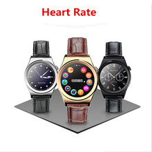 Smart Watch X10 Sports SmartWatch Heart Rate Monitor Fitness Tracker Gunine leather Mobile Wristwatch for Android IOS PK g3 dz09(China)