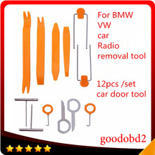12pcs Car Stereo Installation Kits Car Radio Removal Tool Car Radio Panel Door Clip Panel Trim Dash Audio Removal Hand Tools Set