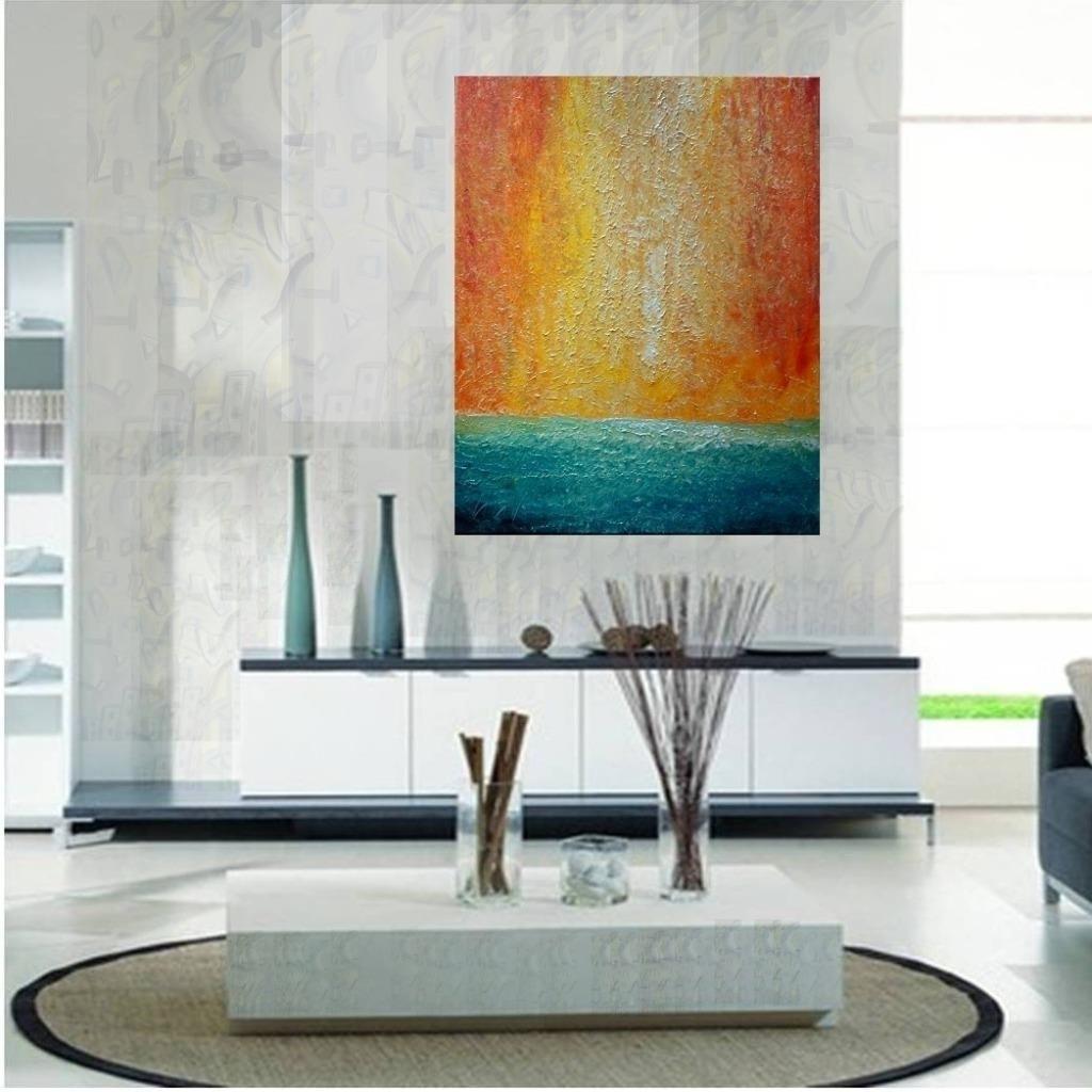 Beach WATER Sand ARUBA Abstract minimalist canvas, aerial SUNSET (2)