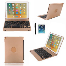 Smart Folio Case Cover for Apple iPad Pro 9.7 for iPad Air2 Wireless Bluetooth Keyboard with Stylus Pen USB Charge Cable Kit(China)