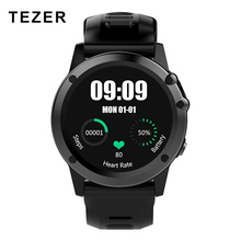 TEZER H1 NEW 3G WiFi GPS SIM 512MB+4GB sport Smart phone watch Heart Rate For Andiod 5.1 Thermometer play store Dial Call Camera(China)