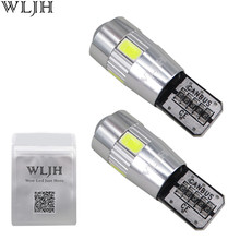 WLJH 2x Canbus Car 5630 SMD T10 LED W5W Projector Lens Auto Lamp Light Bulbs for ford focus 2 3 fiesta mondeo ecosport kuga drl(China)