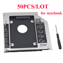 "50PCS Aluminum Optibay 2nd HDD Caddy 9.5mm SATA 3.0 SSD CD DVD Case Enclosure caddy for Macbook Mac Pro 13"" 15"" 17"" SuperDrive(China)"