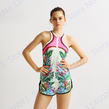 Retro Leaves Fitness Shorts Flowers Beach Shorts Drawstring Elastic Waist Ladies Tennis Basketball Running Shorts Harajuku