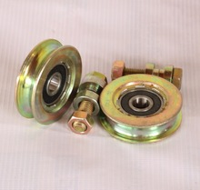 2PCS/LOT  58x17mm Thickness:17mm 2.5 -Inch U type Bearing Pulley Wheel Steel Wire Bearing Pulley