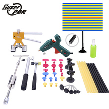 PDR Paintless Dent removal tools Auto car body restore tool Hail Damage Repair devices Set glue gun pulling bridge slide hammer