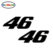 HotMeiNi 18*9 CM 2 X Number 46 Valentino Rossi Moto Gp Decal Car Sticker Vinyl Car Styling Motorcycle Accessories Black/Sliver(China)