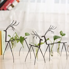 Home Decorative Test Tube Hydroponic Glass Vase Micro-landscape Creative Desktop Ornaments(China)