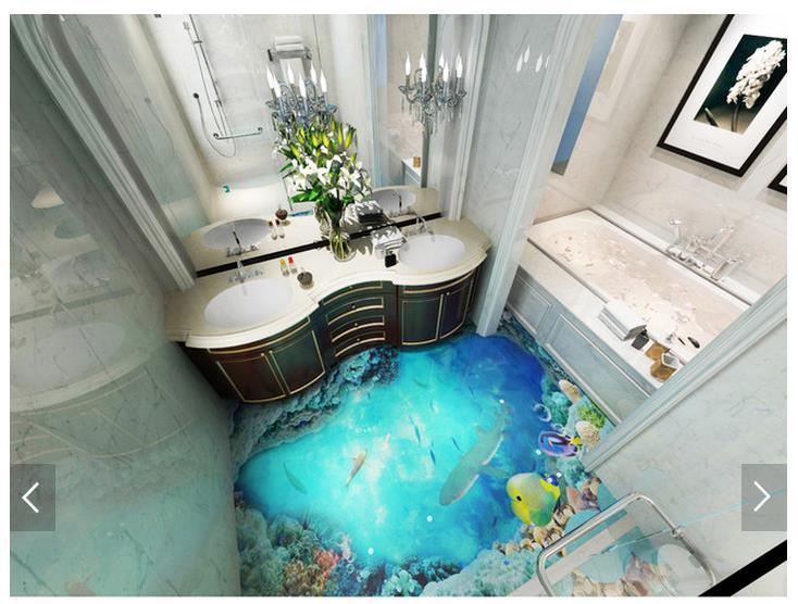 3d wallpaper custom 3d flooring painting wallpaper floor brunet real ocean floor tile stereograph 3d living room photo wallpaper<br>