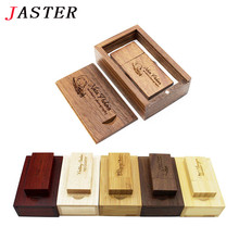 JASTER Custom LOGO Wooden usb + gifts box usb flash drive Memory stick 4GB 8GB 16GB 32GB pendrive LOGO for Photography wedding(China)