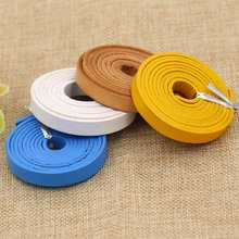 (sold by Meter) 8MM Width 2mm Thick Colored Paint Covering the surface, genuine Leather cord for Bags Fitting.