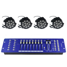 Stage effect strobe light system with 12W 8 channels par led light and 192 channels DMX512 programe panel.