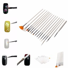 15 PCS Nail Art Decorations Brushes Set UV Gel Design Painting Pen For Salon Manicure DIY Tools Women Beauty