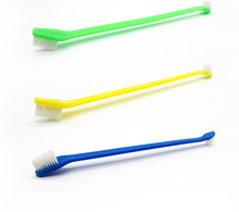 1000pcs/lot Pet Toothbrush  Lovely Grooming Dual End  Pet Dog Puppy Cat Small Animals Toothbrush