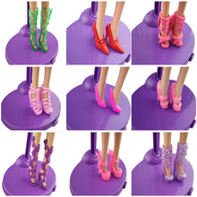 10 pairs Fashion Doll Shoes Heels Sandals Shoes for Kawaii Dolls Outfit Dress Gift for Girls