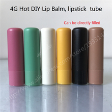 200 PCS/lot 4 g Selling diy lip balm bottle, lipstick bottle shell, can be directly filling, 4g Colorful Lipstick fashion Tubes(China)