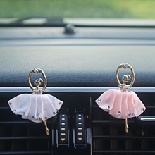 Diamond Ballet Girl Auto Outlet Air Freshener Car Styling Solid Fragrance High Quality Car Air Vent lemon Perfume 4 Colors(China)
