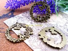 18pcs--33mm Antique bronze one side garden,Secret Garden Charms DIY Charms Pendants(China)