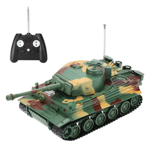 HENG LONG 3828 1/26 Scale 27MHz RC Battle Tank German Tiger Panzer with Simulated Sound and Light 320 Degree Turret Rotating(China)