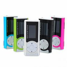 New LCD Screen Metal Mini Clip MP3 Player Support Micro TF/SD Slot with Earphone Cable Portable MP3 Music Players