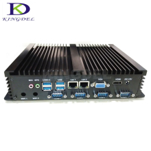 Thin client Fanless Industrial PC embedded Intel Celeron 1037U 4 RS232COM port 2 Gigabit LAN USB3.0,Win 7