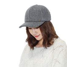 Solid women's Flannelette baseball cap winter cap warm bone snap back hat gorras hats for women Men's winter warm Knitted hat(China)