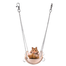 Hamster bamboo Toys Swing for small pets Hamest squirrel Guinea pig Chinchilla ferret rabbit toys swing accessories