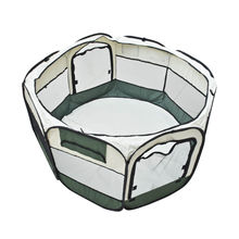Army Green Pet Dog Cat Playpen Tent Portable Exercise Fence Kennel Cage Crate