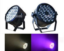 2xLot The Brightest 4/8 Dmx Channels Led Flat Par 18x12W RGBW 4IN1 Slim Led Par Can Light Plastic Case Stage DJ Disco Strobe