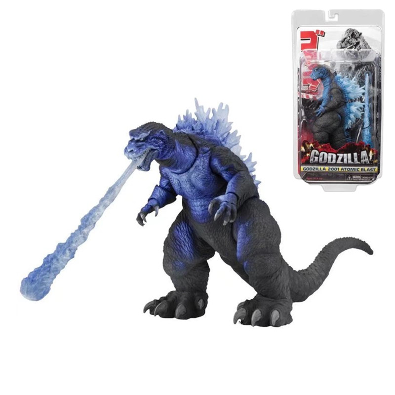 18cm Blue Version Godzilla Figure 2001 Atomic Blast Godzilla PVC Action Figure Collectible Model Toys Christmas Gift<br>