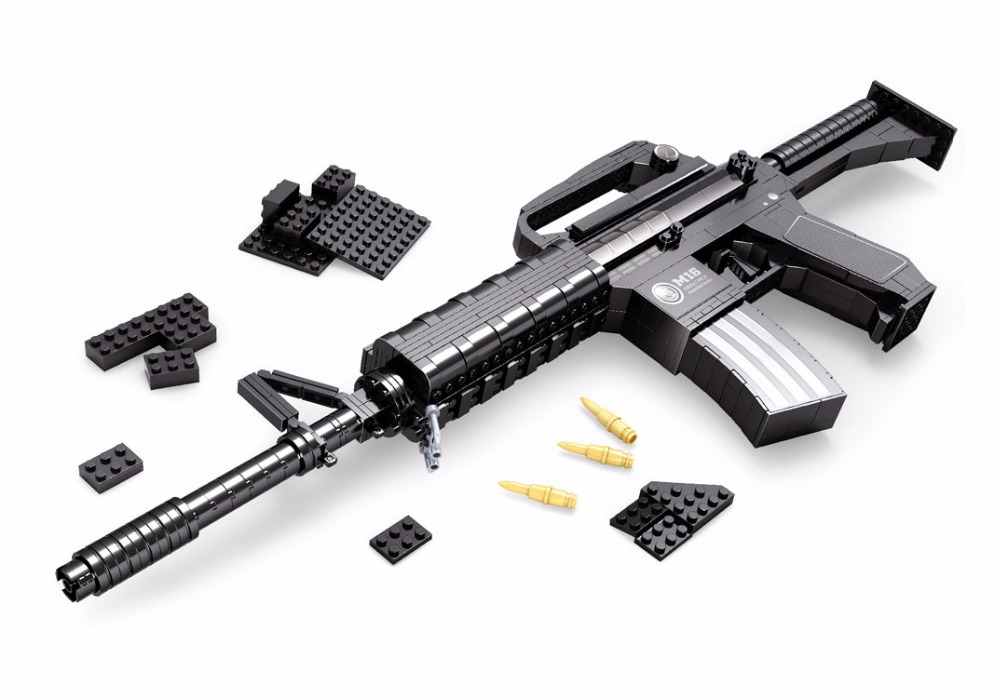 2017 Arms brinquedos series the M16 rifle Model 524 pcs Building Blocks gun Classic juguetes children brick Toys<br>