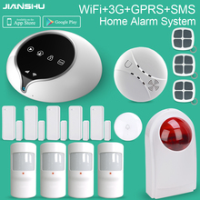 2017 Newest 3G WIFI Alarm System Support English/Spanish/French/Dutch/Italian Voices WIFI Home Security Burglar Alarm System