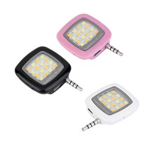 Universal 3.5mm Jack Smart Selfie 16 LED Camera Flash Light For IOS Android Phones For iPhone 5s 6 6+