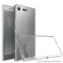 Sony Xperia XZ Premium Transparent Clear Hard Acrylic Back Case Shockproof Cover Premium/XZP G8142 E5563@ - elephonecase store