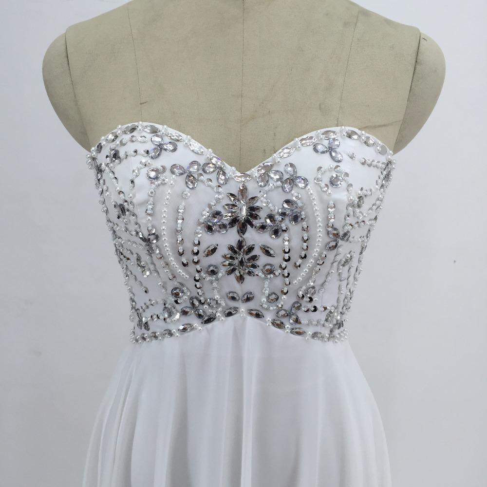 Sexy Chiffon A Line Beach Wedding Dresses Vintage Boho Cheap Bridal Gowns Vestidos De Novia Robe De Mariage Bridal Gown in stock 5