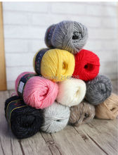 Free Shipping 300g(50g*6pcs) Angora Rex Rabbit Yarn Hand Knitting Yarn Thick Yarn For Overcoat Outerwear Hat Scarf Cape(China)