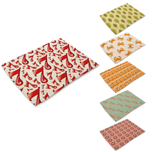 Crab leaves Cotton Linen Western Pad Insulation Placemat Dinner Table Mat Bowls Tableware Coaster Kitchen Accessories