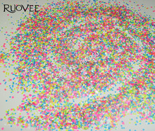 019# NEON Color nail glitter Hexagon and Diamond mix Shapes Solvent Resistant Decoration for Nail art polish make up