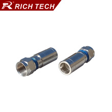 5pcs RG59 connector RF cable terminal Waterproof F Compression adapter RF coaxial wire converter