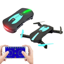 Foldable Mini Selfie Pocket Rc Camera Drone JY018 with Wifi FPV Camera Altitude Hold Headless Mode RC Helicopter VS JJRC H37(China)