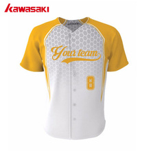 Brand Kawasaki Team Custom Training Baseball Jersey Top Breathable Quick Dry Youth Practice Softball Jersey Shirts(China)