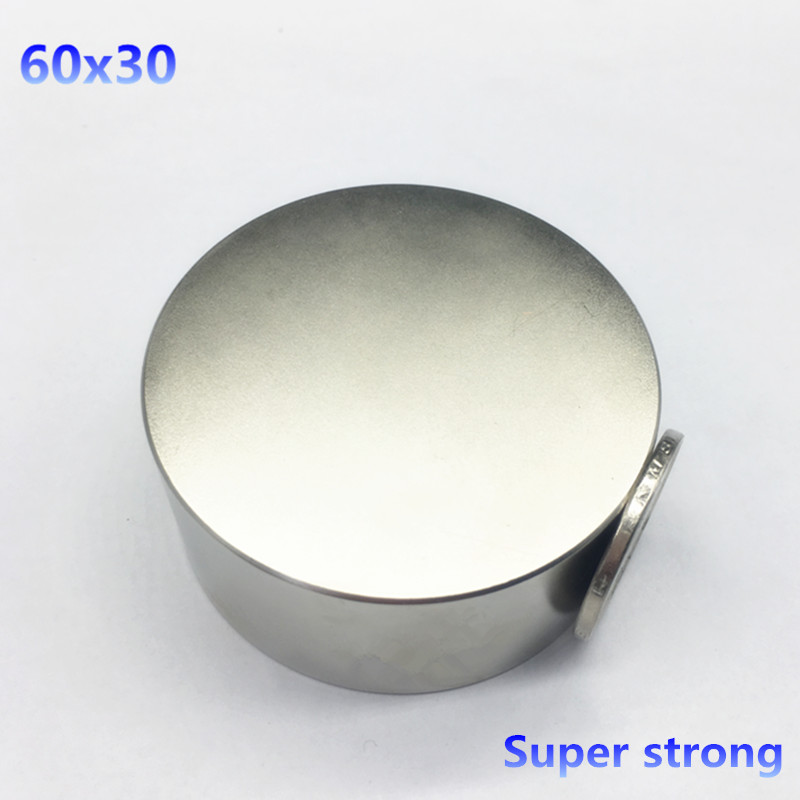 free shipping 1pcs 60mmx30mm Round Cylinder Neodymium Permanent Magnets 60*30 NEW 60x30 mm Art Craft Connection<br>